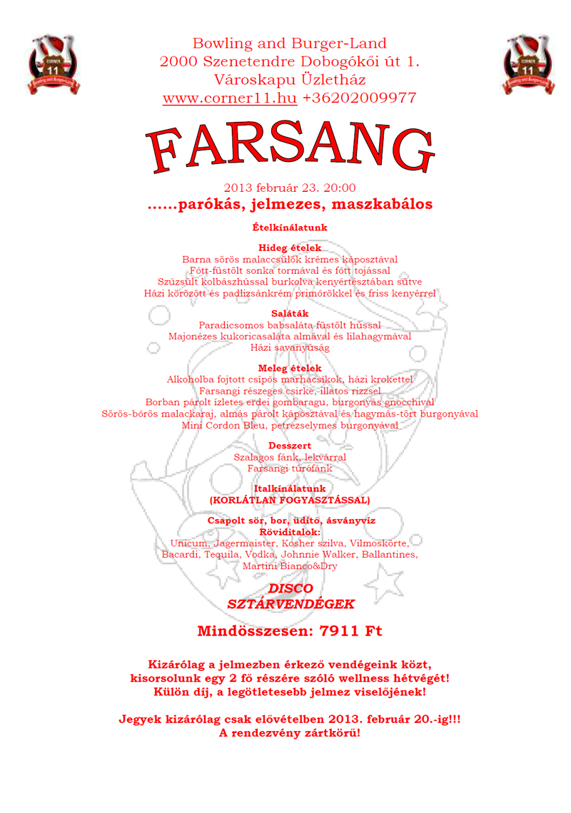 Farsang 2013